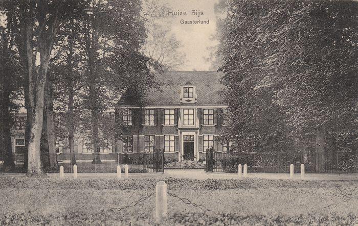 Huize Rijs Fam.van Swinderen rond 1910